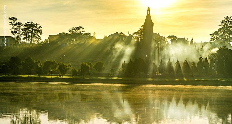 Peaceful scene of Da Lat