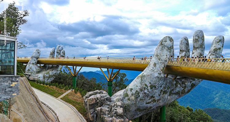 Vietnam Golden Bridge Da Nang