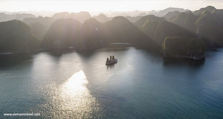 Halong Bay from above