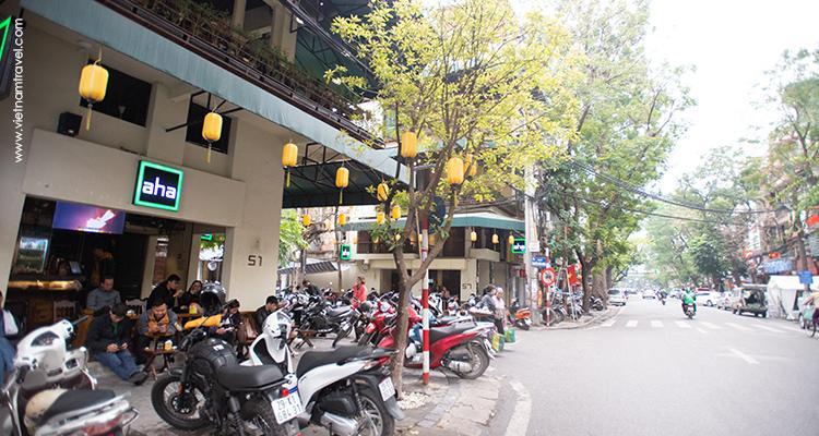 Side walk Often Used as Motorbike Parks
