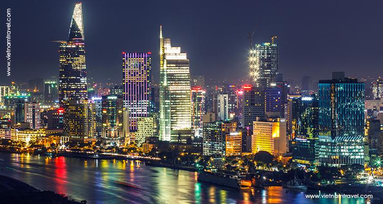 View Saigon panorama from Bitexco Saigon Skydeck