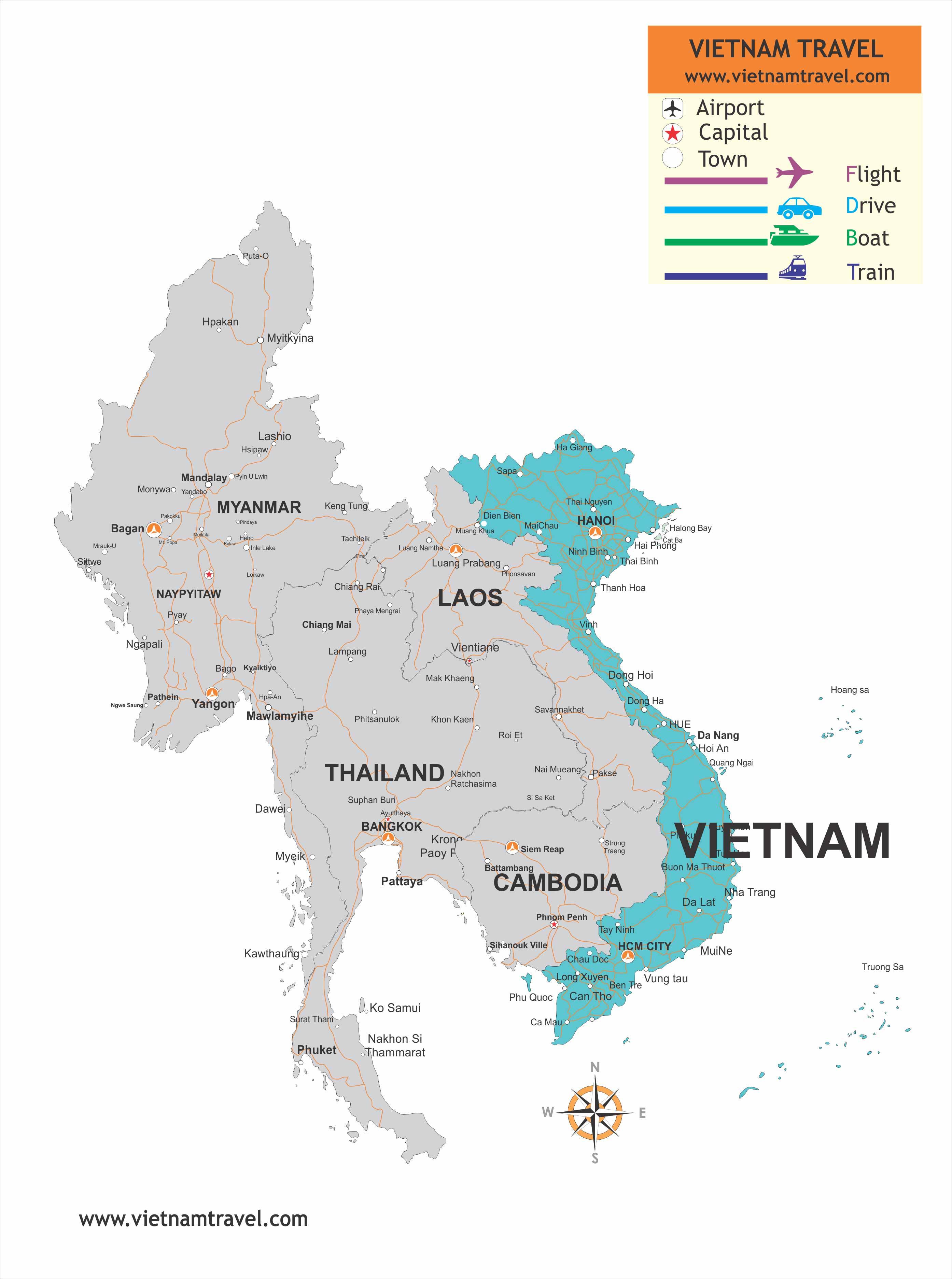 Travel Maps Vietnam