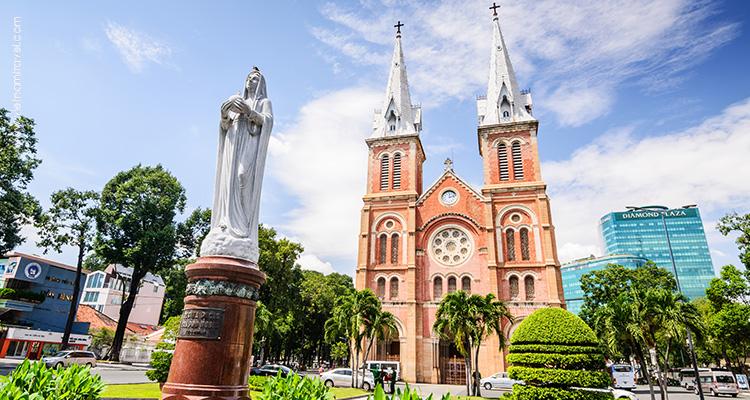 Vietnam-Saigon-Romanesque-Notre-Dame-Cathedral
