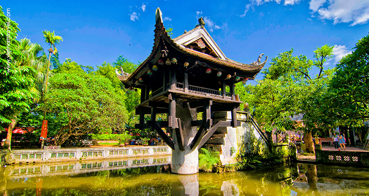 image of One Pilar Pagoda hanoi