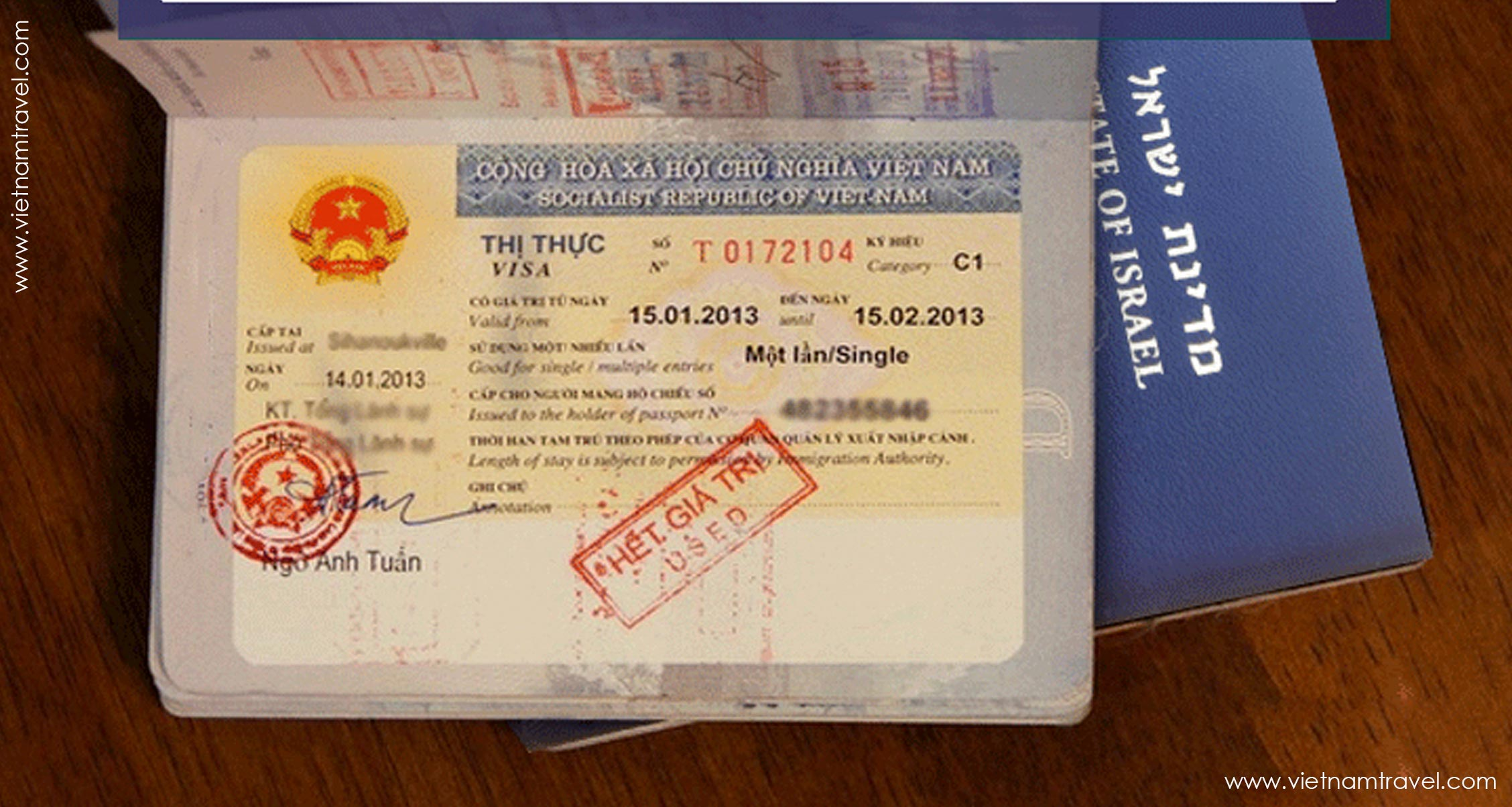 Vietnam Visa for Israeli citizen