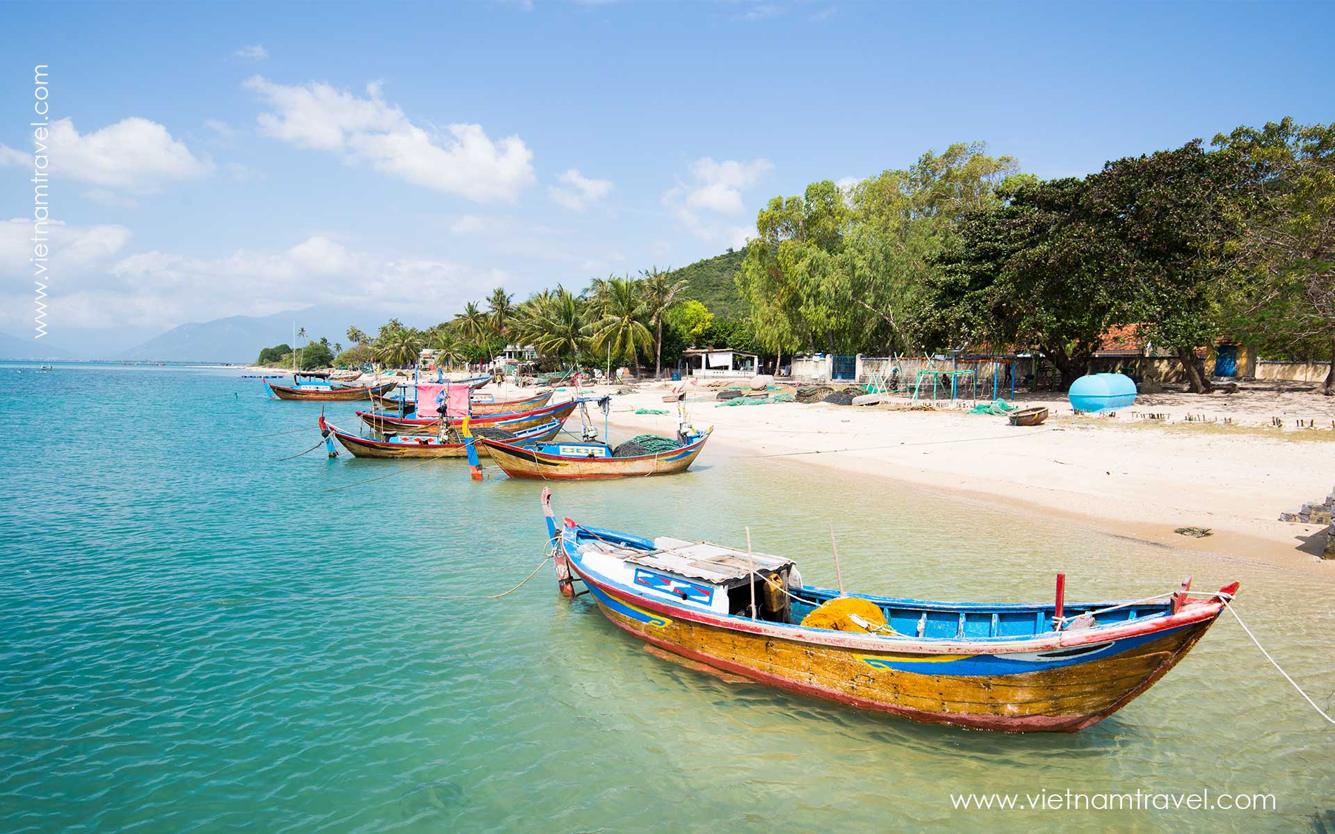 Nhatrang Beach Tran Phu Street View in Summer