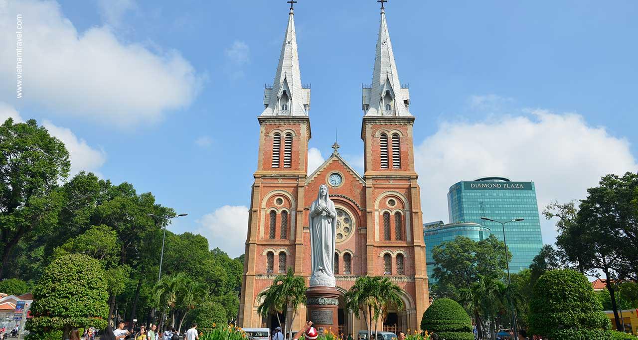 Notre Dame Cathedral of saigon vietnam