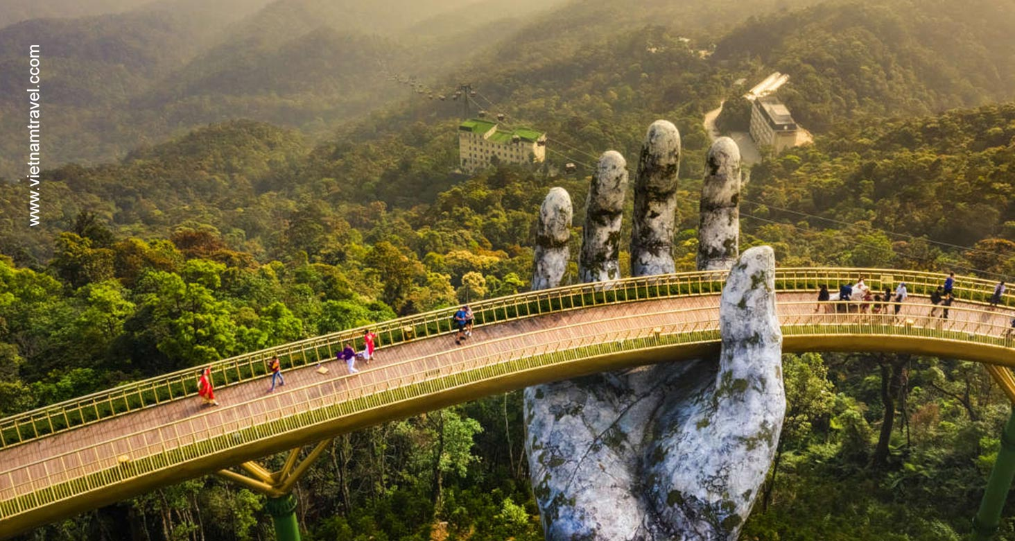 image of golden bridge da nang