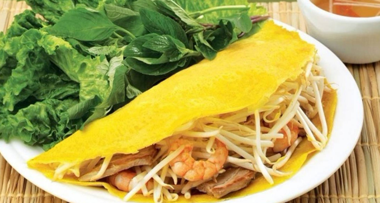 Banh Xeo, a savory fried pancake made of rice flour, is popular in some Asian countries including Vietnam.