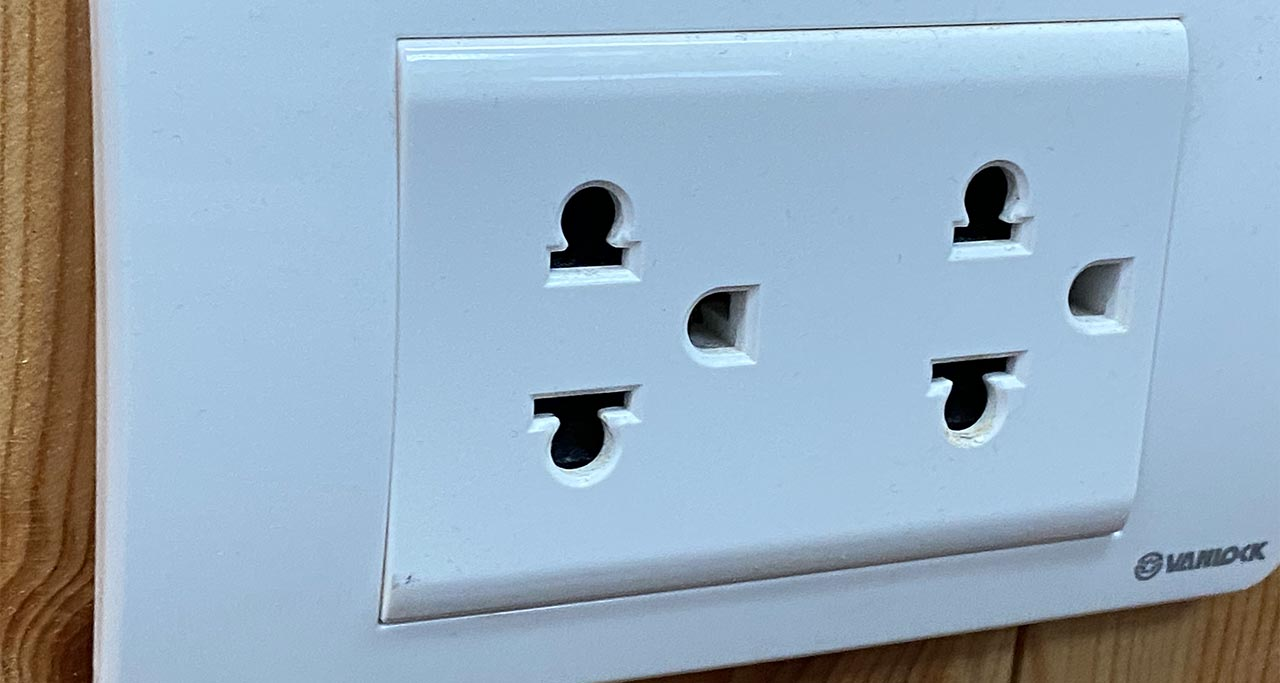 A typical Vietnam electrical outlet