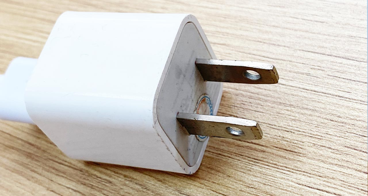 Power plug type A: 2 vertical pins