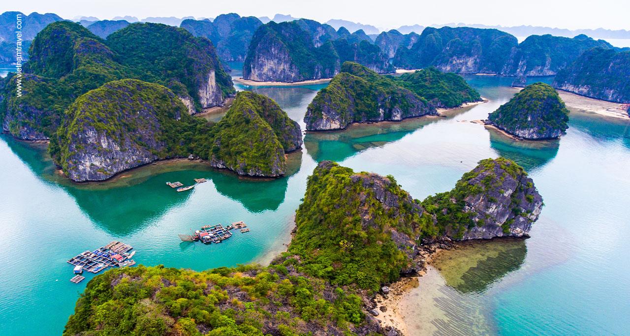Cat Ba island is located in Lan Ha Bay