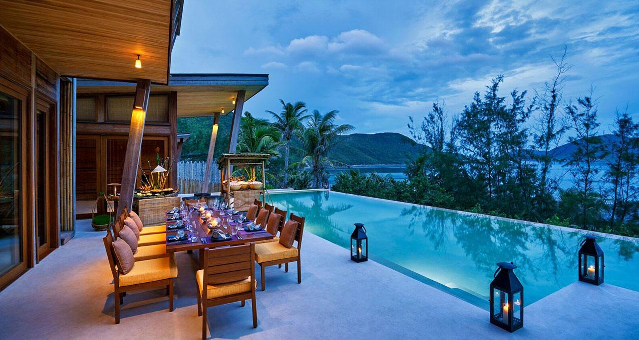 a resort in Con Dao island