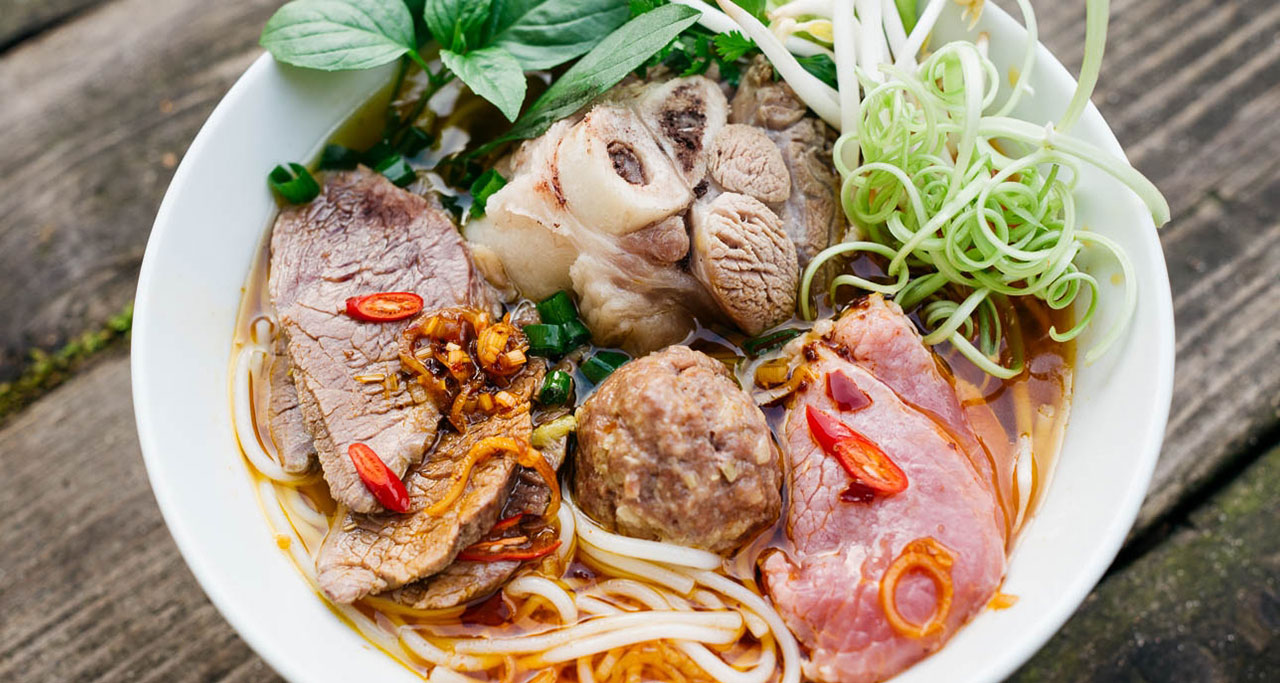 Bun Bo Hue is easily available throughout Vietnam