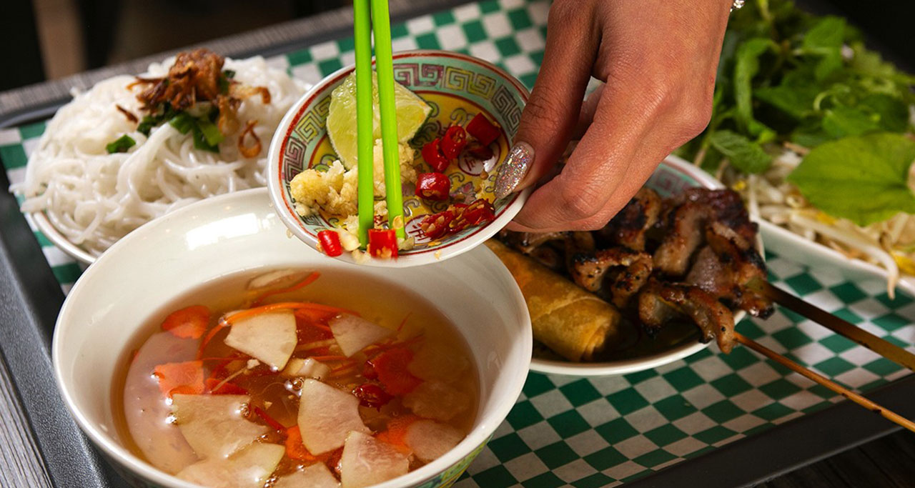 Bun cha is originated and remains very popular in Hanoi