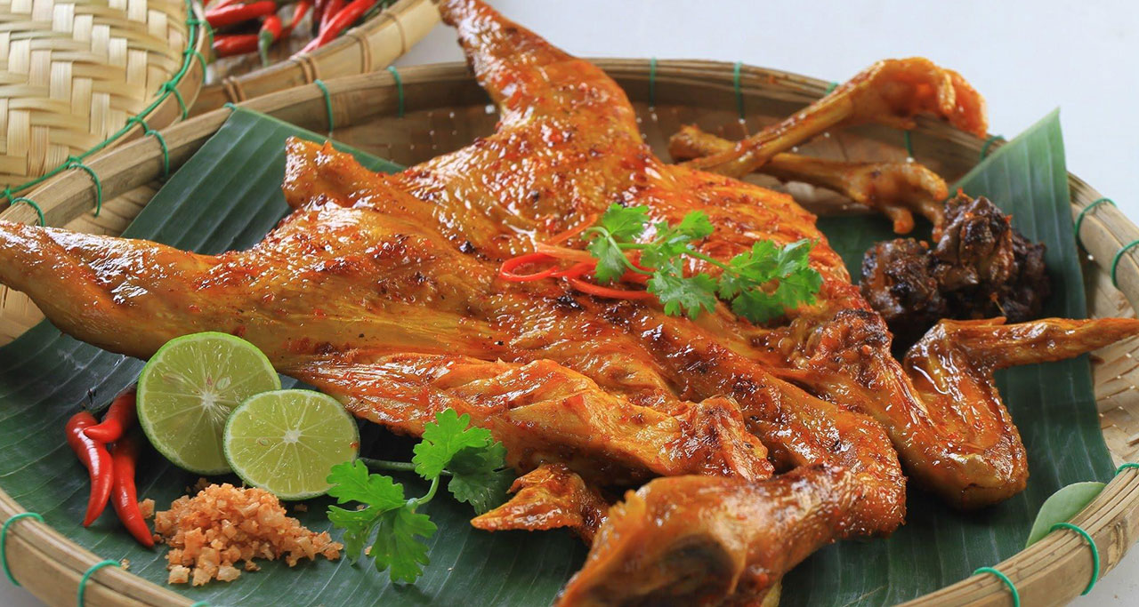 Ga Nuong (grilled chicken) is a popular dish and specialty of some places in Vietnam