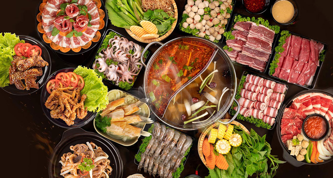 Vietnamese hotpot (lẩu) is a harmonious combination of the rustic flavors to create a delicious dish