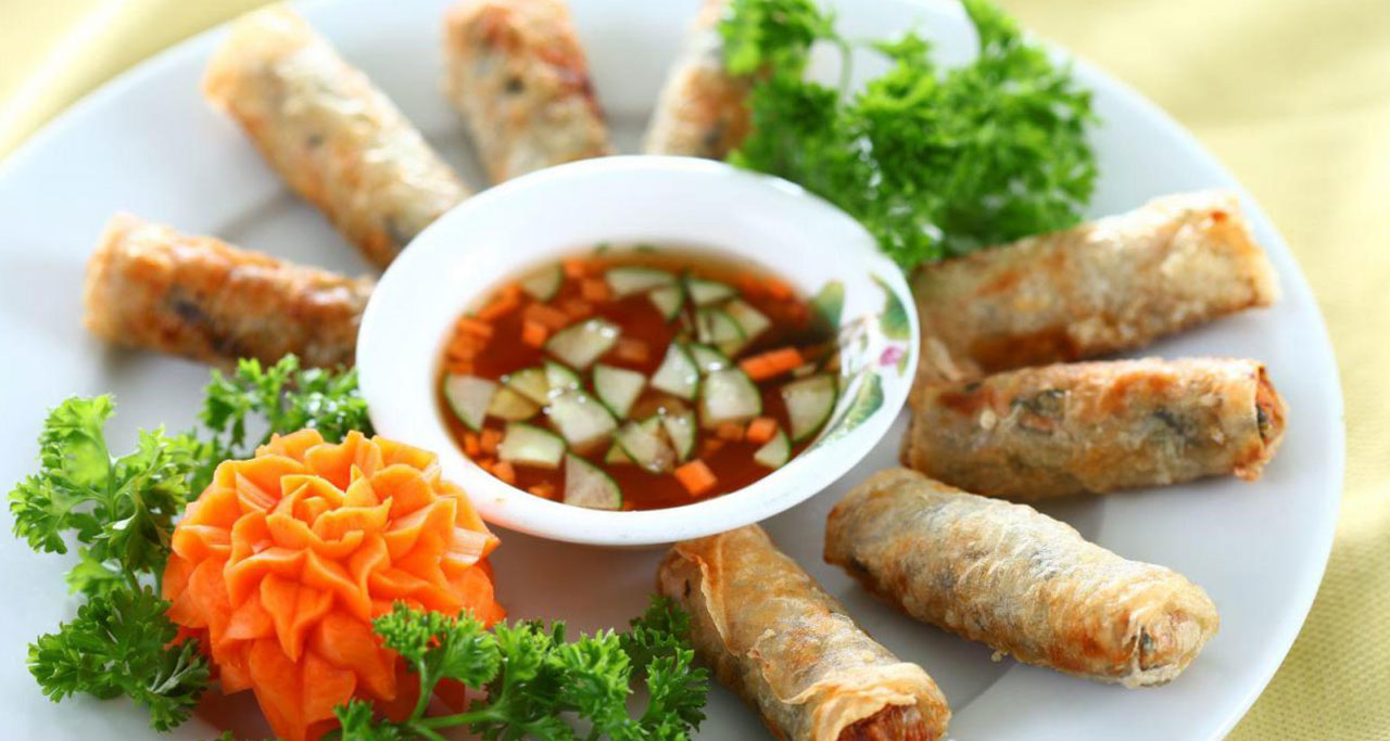 Fried spring roll (called Nem ran in North or cha gio in South) is a popular dish in Vietnam
