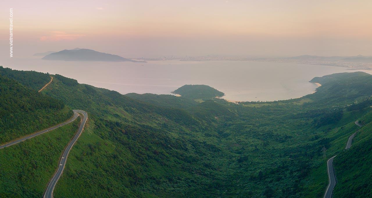panorama view on Hai Van Pass