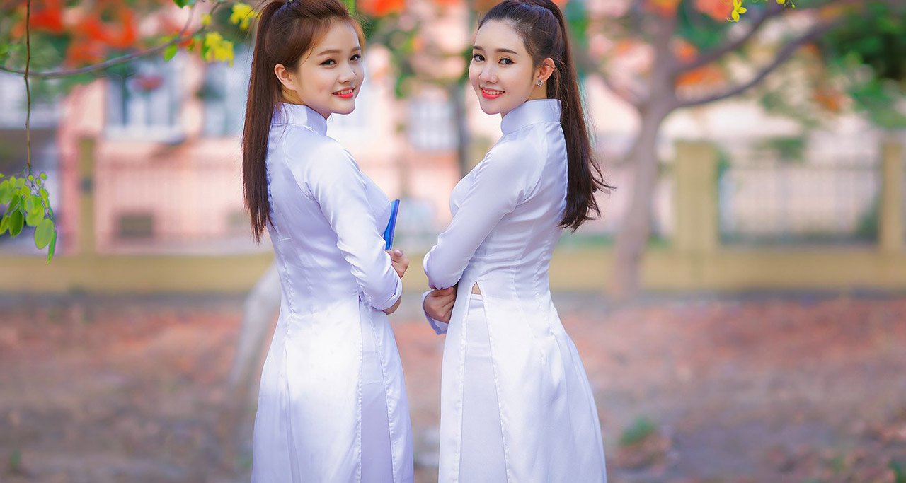 Ao Dai - traditional Vietnamese costume