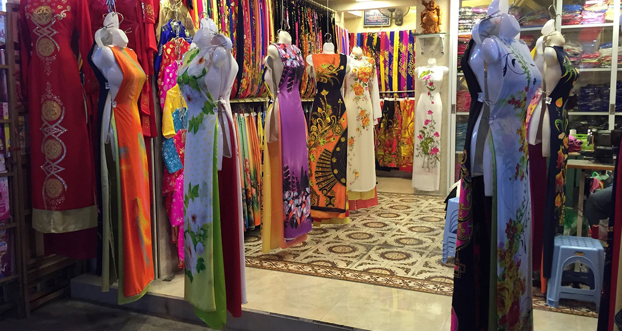 an Ao Dai store in Vietnam