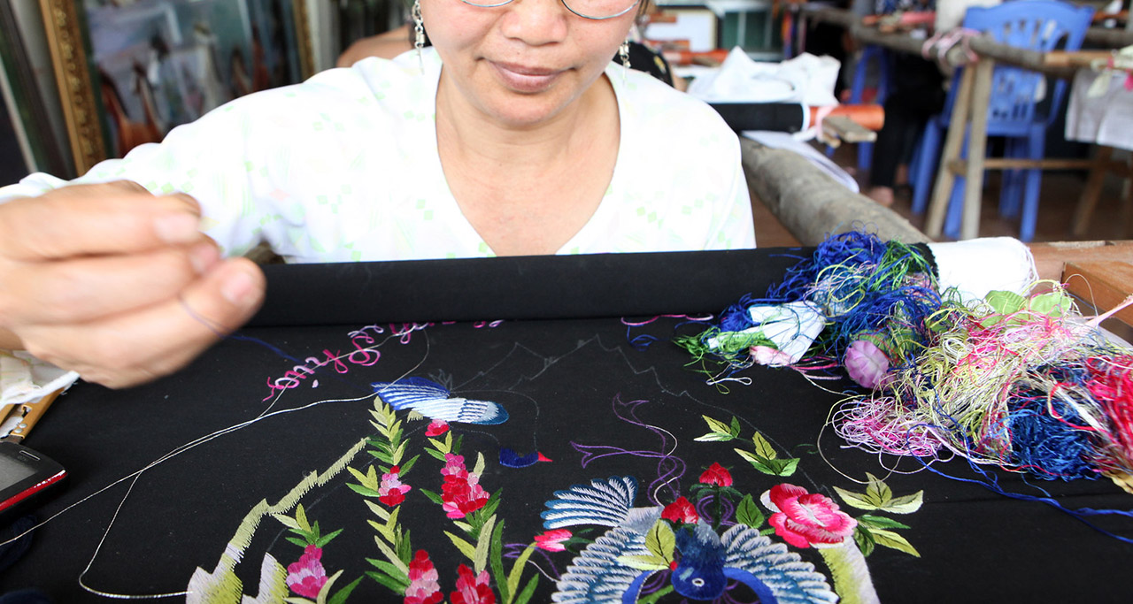 Embroidery in Vietnam