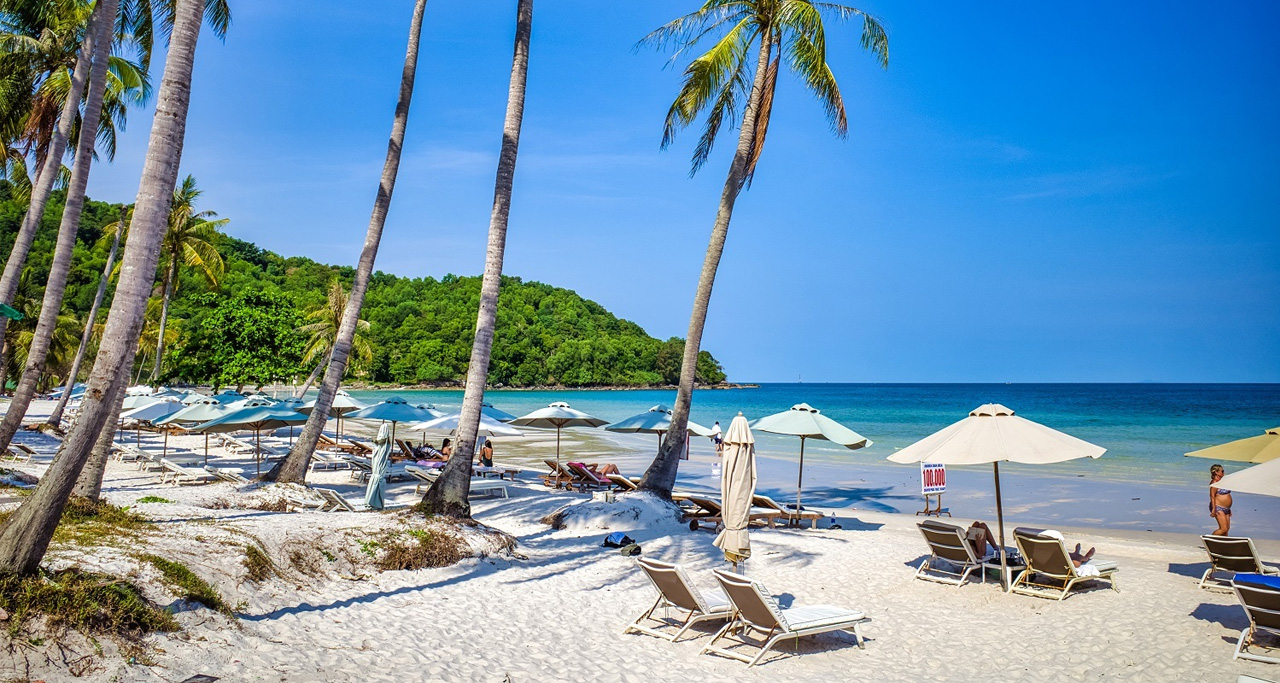 One of many white sandy beaches on Phu Quoc Island