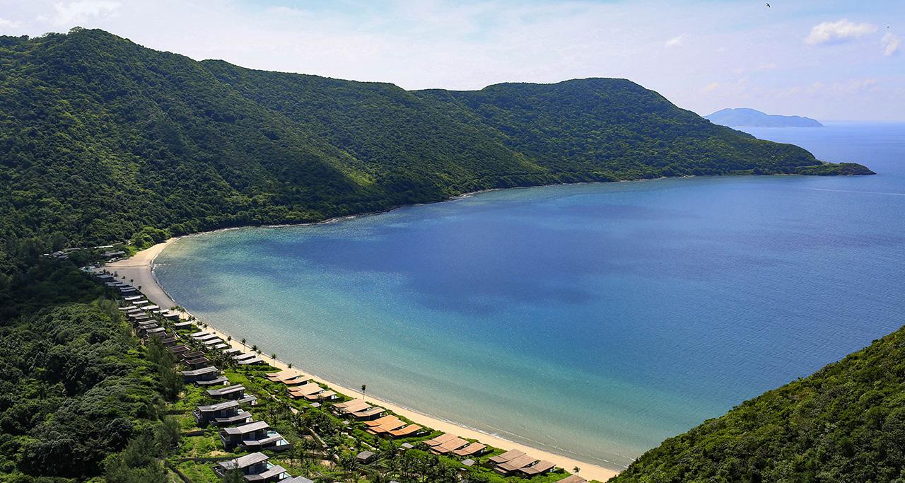 a resort near Con Dao island's beach