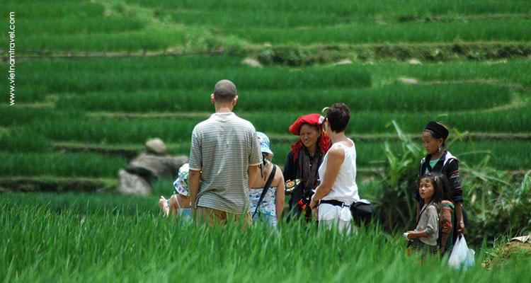 Trekking activity in Sapa